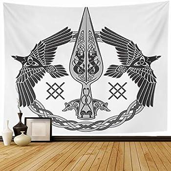 Amazon Com Emvency Tapestry Aegishjalmur Helm Of Awe