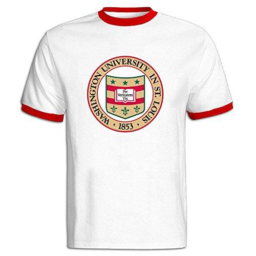 Men's Washington University In St. Louis Seal Baseball T Shirt Red ()