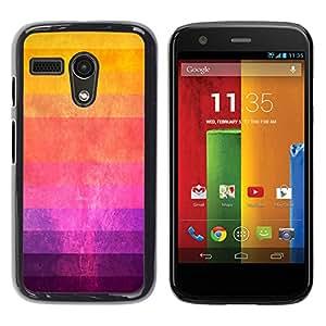 For Motorola Moto G 1 1ST Gen - Yellow Red Purple Ombre Art /Modelo de la piel protectora de la cubierta del caso/ - Super Marley Shop -