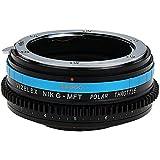 Vizelex Polar Throttle Lens Mount Adapter - Nikon Nikkor F Mount G-Type D/SLR Lens to Micro Four Thirds (MFT, M4/3) Mount Mirrorless Camera Body with Built-In Circular Polarizing Filter