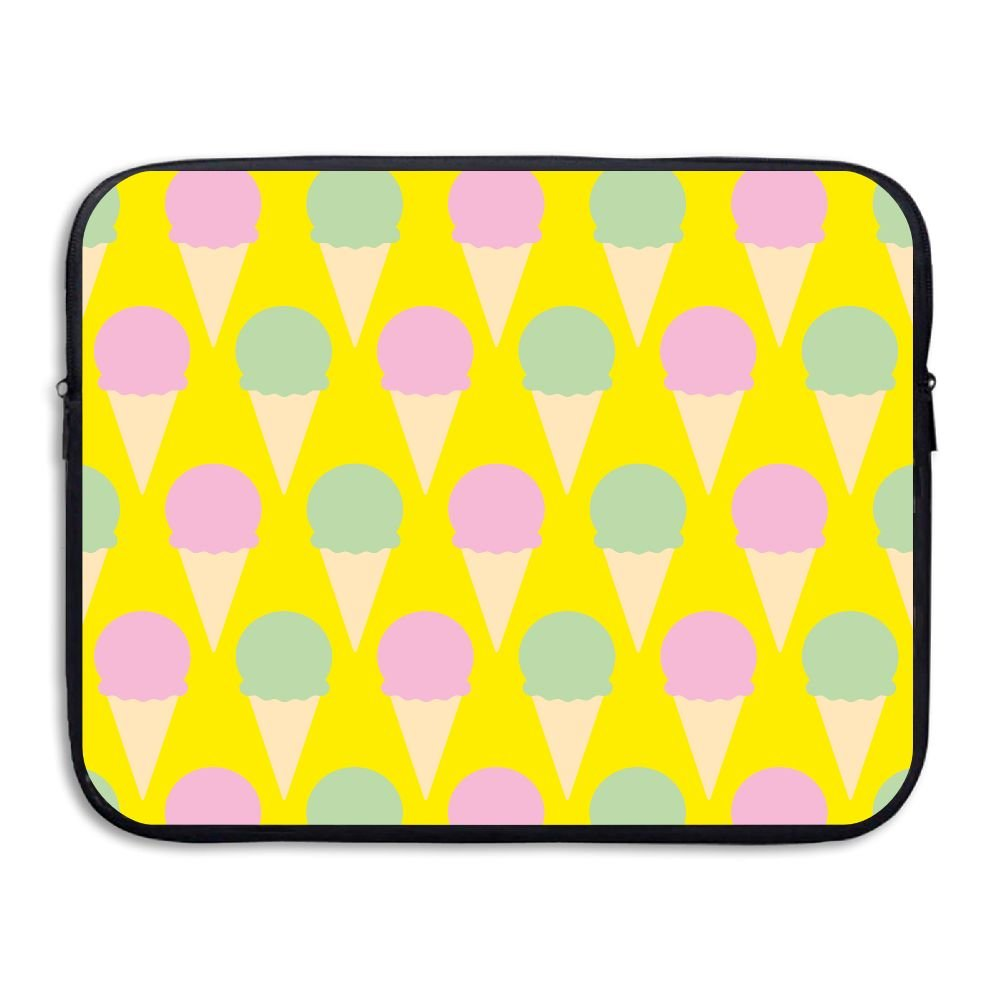 Business Briefcase Sleeve Ice Cream Pattern Yellow Laptop Sleeve Case For Macbook Pro Air Lenovo Samsung Sony