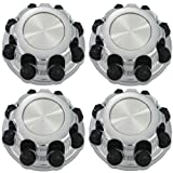 16 truck hub cap set - OxGord Center Caps for Select Chevy GMC Truck Van 8 Lugs Chrome (Set of 4) 16 inch Wheel Cover