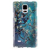 For Galaxy Note 4 , ivencase Peach Blossom Flower [Soft TPU Gel] Pattern Flexible Ultra Thin Slim Texture Protective Rear Case Cover Perfect Fit for Samsung Galaxy Note 4 + One
