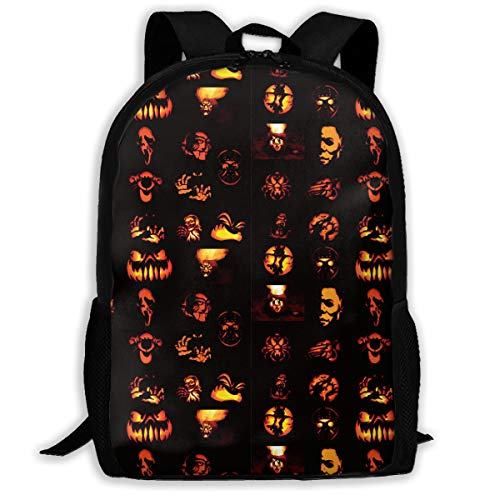 (Halloween Pumpkins Pattern Adult Travel Backpack, College School Daypack,rucksack, Laptop)