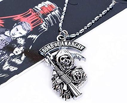 Davitu COSANER Sons of Anarchy - Collar con colgante de esqueleto para hombre: Amazon.es: Juguetes y juegos