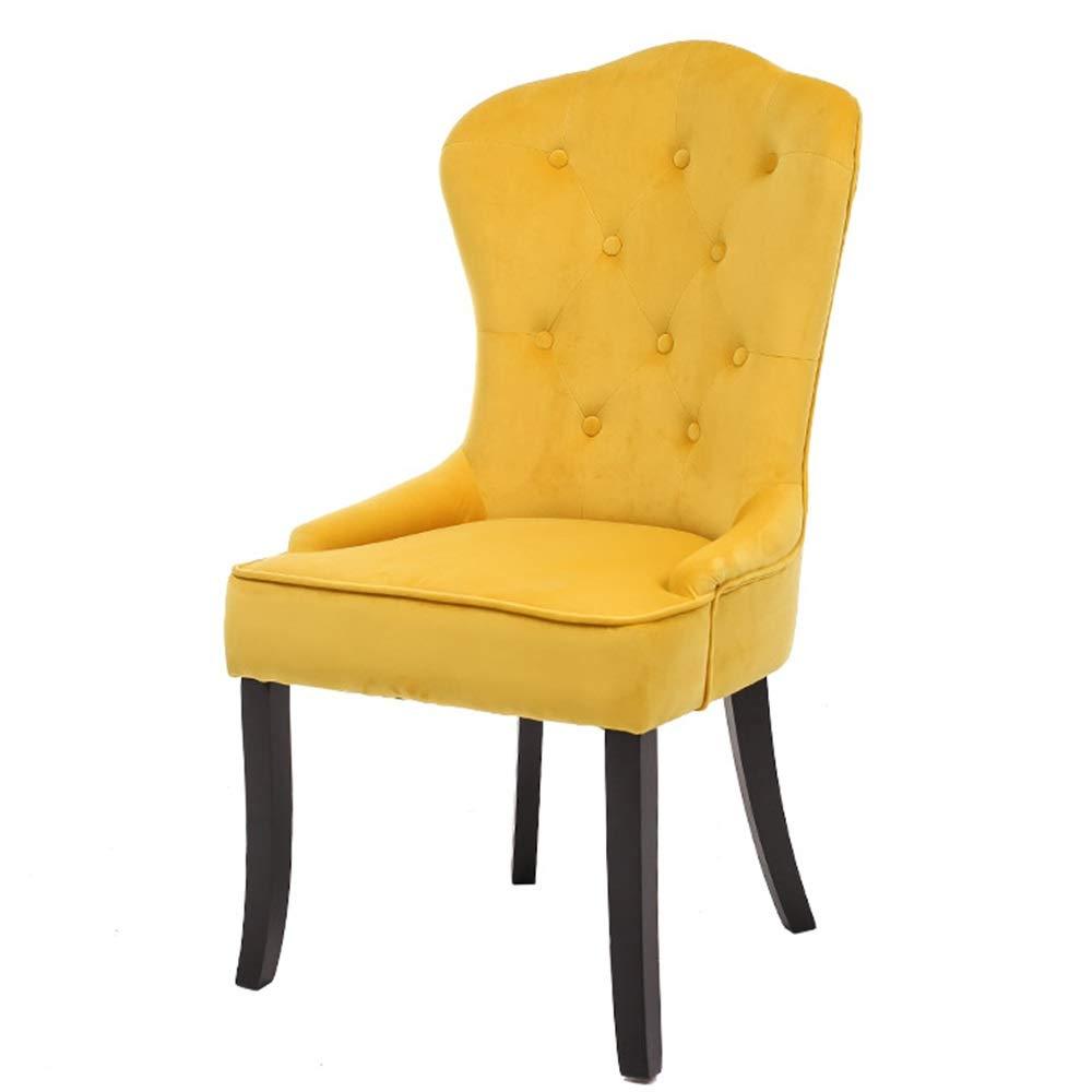 Amazon.com: LJFYXZ silla de comedor de terciopelo acolchado ...