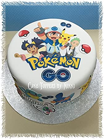 Edible Icing POKEMON GO Cake Decorations PRECUT No Cutting EASY PEEL PLEASE NOTE