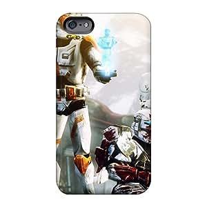Shock-Absorbing Hard Phone Covers For Apple Iphone 6 Plus With Customized Nice Clone Wars Star Wars Skin RandileeStewart