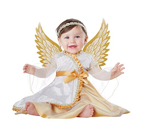 amazoncom california costumes baby girls infant angel whitegold 18 24 months clothing - Halloween Costume For Baby Girls