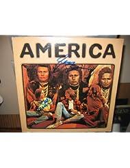 AMERICA signed classic first album cover / UACC RD # 212