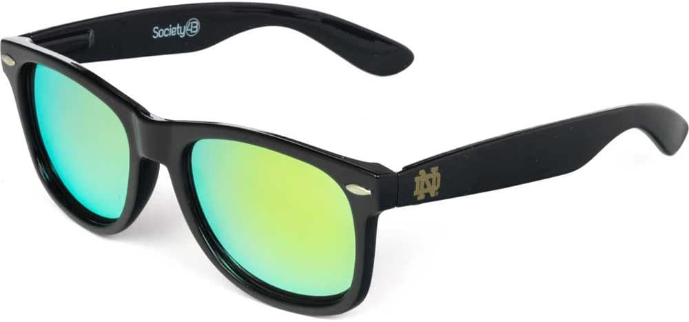 One Size NCAA Notre Dame Fighting Irish ND-1 Blue//Gold Dark Frame Lens Sunglasses Blue//Gold