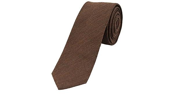 Soprano Corbata fina de lana marrón chocolate: Amazon.es: Ropa y ...