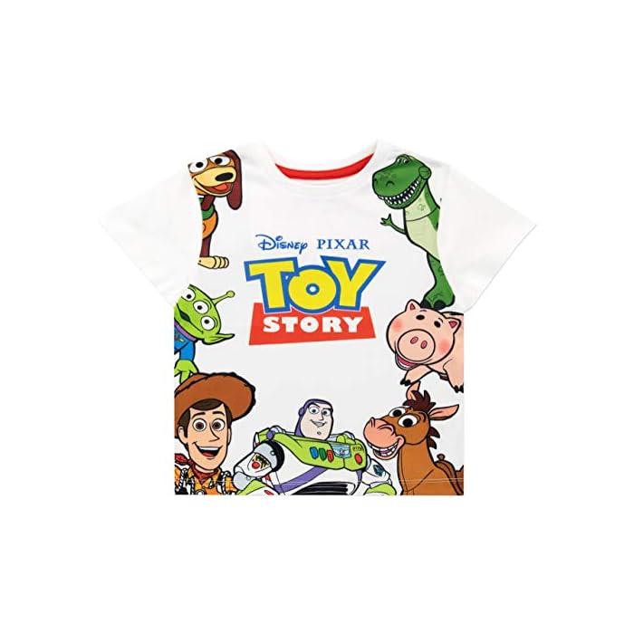 51eP0Ge8EuL Conjunto para niños de Toy Story de Disney. ¡Viaja hacia el infinito y más allá con este conjunto de Toy Story que trae a los clásicos personajes de la caja de juguetes de Andy! Frente: 100% Poliéster Resto: 100% Algodón