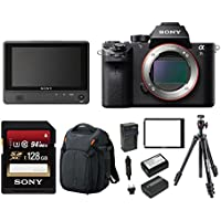Sony Alpha a7SII Mirrorless Digital Camera (Body Only) with Clip On LCD Monitor & Accessory Bundle
