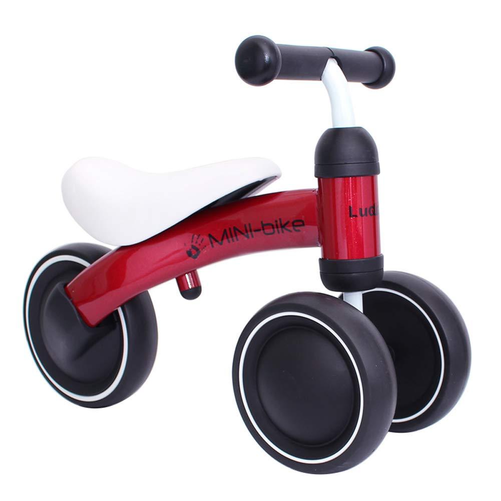 FYABB Baby Balance Bicicletta Bici, Bambini Bambino Safe Triciclo Walker con Singola Ruota Posteriore per 6-36 Mesi Come Primo Regalo di Compleanno,Red