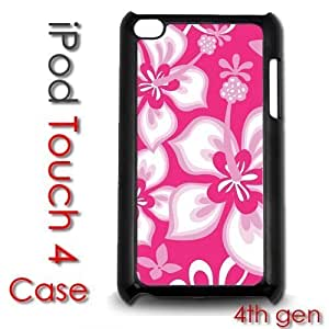 For Case HTC One M8 Cover Plastic Case - Pink Hibiscus Flowers