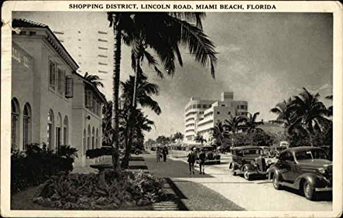 Shopping District, Lincoln Road Miami Beach, Florida Original Vintage - Beach Lincoln Road Shopping Miami
