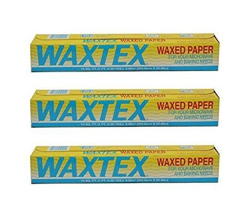 Waxtex Wax Paper Roll (75 feet) - Pack of 3