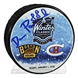 David Pastrnak Boston Bruins Signed Autographed 2016 Winter Classic Hockey Puck