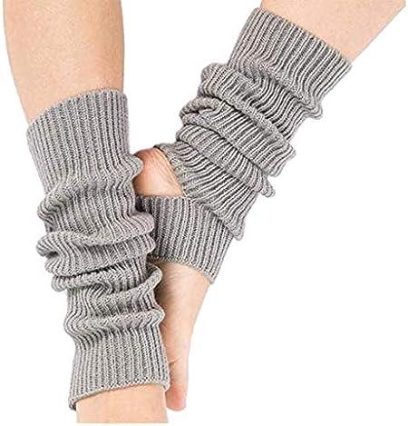 Apioffer Conjunto de Pierna de Baile Latino Tejer Deportes Protectores de Lana Botas de Yoga Calcetines de Yoga Recta Larga Recta 1 par