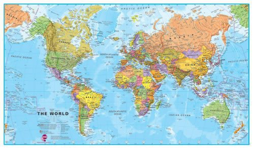Maps International World Wall Map - Map of The World for sale  Delivered anywhere in Canada