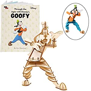 Disney Goofy 3D Wood Puzzle &Model Figure Kit (48 Pcs) – Build & Paint Your Own 3-D Toy – Holiday Educational Gift for Kids & Adults, No Glue Required, 8+