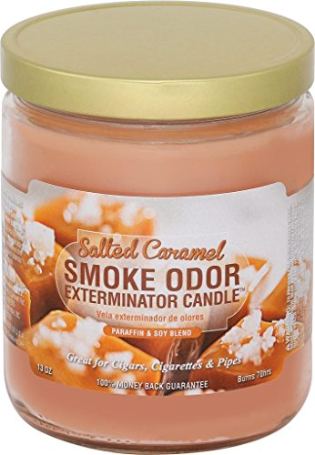 Smoke Odor Exterminator 13oz Jar Candles (Salted Caramel, 1), 13 oz, -