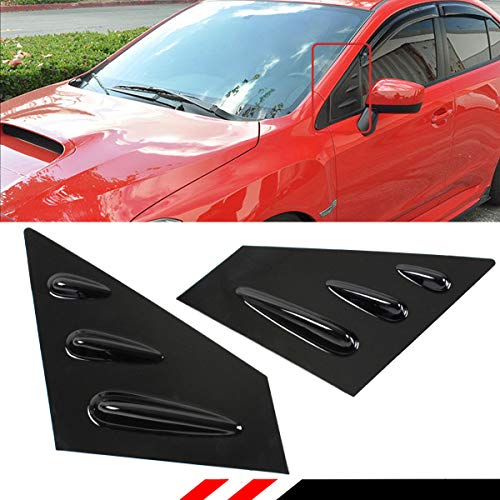 Cuztom Tuning Fits for 2015-2018 Subaru WRX Sti Vortex Shark Fin Style Glossy Black Side View Mirror Louver Cover Vents Scoops