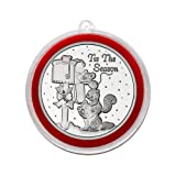 #3: 2017 - Tis the Season Animals at Mailbox Silver Medallion in Ornament Holder - Uncirculated