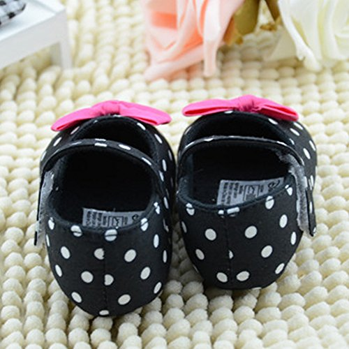 La Cabina Mignon Chaussures Bébé Fille -Chaussure Bébé Fille Premier Pas -Chaussures Souples Confortable - Chaussures Antiglisse pour Hiver Printemps été (0-18 mois ) (12-18 mois)