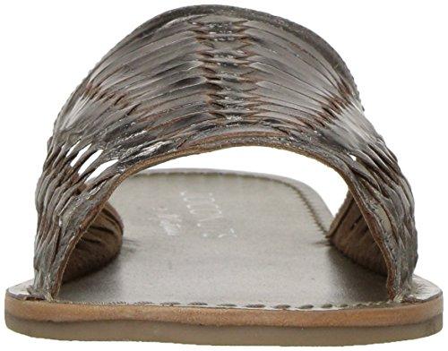 Noix De Coco Par Matisse Womens Mateo Plat Sandal Pewter