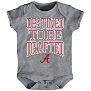 Outerstuff NCAA Alabama Crimson Tide Newborn & Infant Destined Short Sleeve Bodysuit, Heather Grey, 24 Months