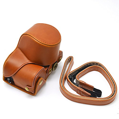 SONY alpha a6300 camera case, PU leather sony ilce-6000 nex6 Fit 16-50mm Lens camera bag by XEVN