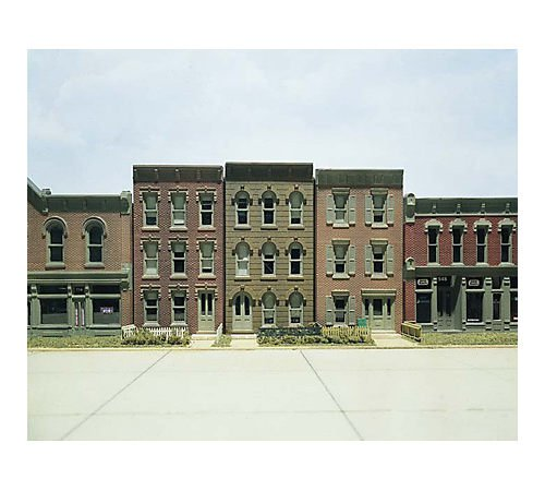 HO KIT DPM Townhouse Flats w/3 Fronts by Woodland Scenics DPMWOO11400