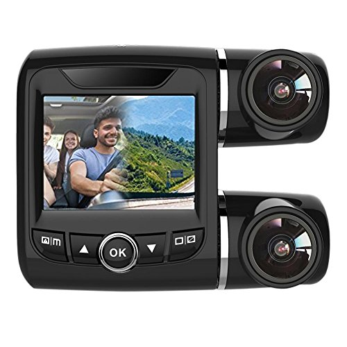 Price comparison product image Starnearby 2in LCD Dual Lens 340° Car DVR Camera Dash Cam 1080P FHD Video Recorder