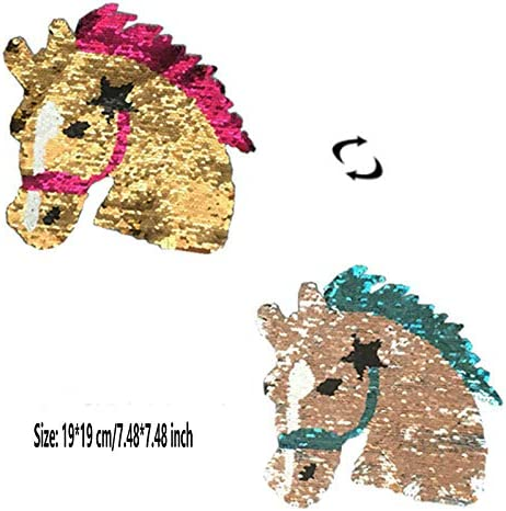 1 Pc Horse Patch for Clothes DIY Crafts Coat Sweater Embroidered Patch Applique