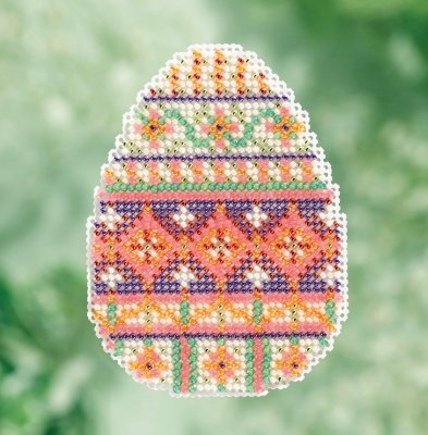 - Trellis Egg Bead Cross Stitch Kit Mill Hill 2017 Spring Bouquet MH181715