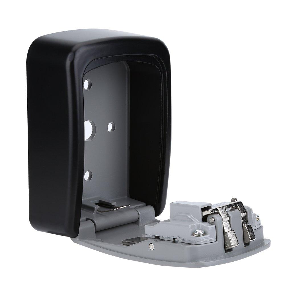 Alomejor 4-Stelliges Passwort Wandhalterung Sicherheitscode Schl/üSsel Halter Aufbewahrungsbox