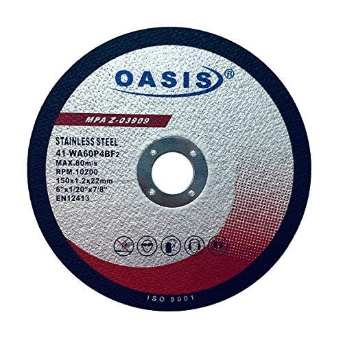 25 Pack - OASIS 6 inch Cutoff Wheels 6