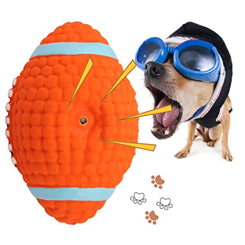 Large Dog Toys Balls : Dog squeak chew ball toys oneisall pet durable latex balls