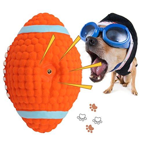 Dog Squeak Chew Ball Toys,oneisall Pet Durable Latex Balls