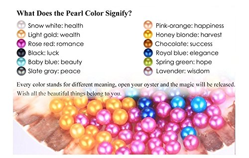 50PC Oysters with Pearls Inside, Freshwater Cultured Love Wish Pearl Oyster with Mixed Colors (7-8mm) by COOCLE (Image #1)