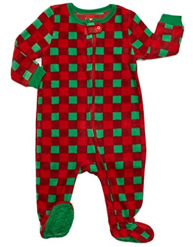 Footed Fleece Sleeper Plaid
