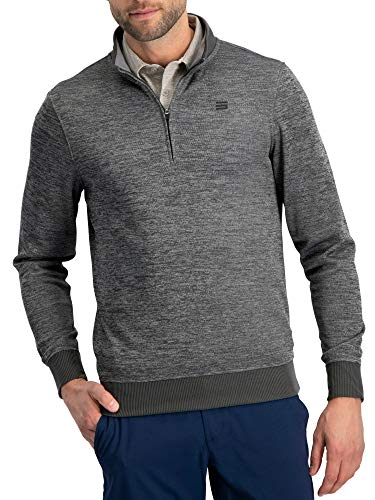 - Dry Fit Pullover Sweaters for Men - Quarter Zip Fleece Golf Jacket - Tailored Fit
