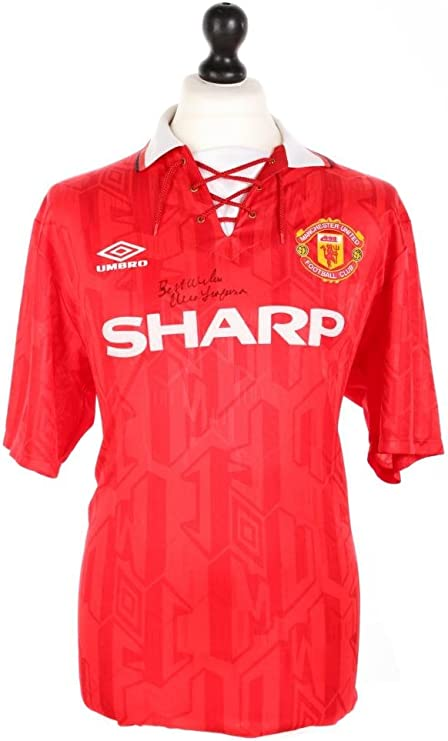 Sir Alex Ferguson Firmado Manchester United 92/94 camisa ...