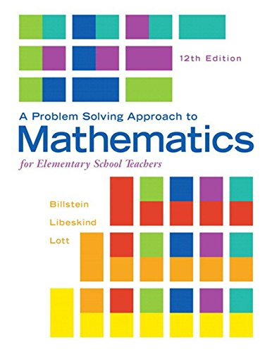 321987292 - A Problem Solving Approach to Mathematics for Elementary School Teachers (12th Edition)