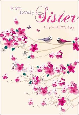 Tarjeta de felicitación de cumpleaños - hermana - canto - a ...