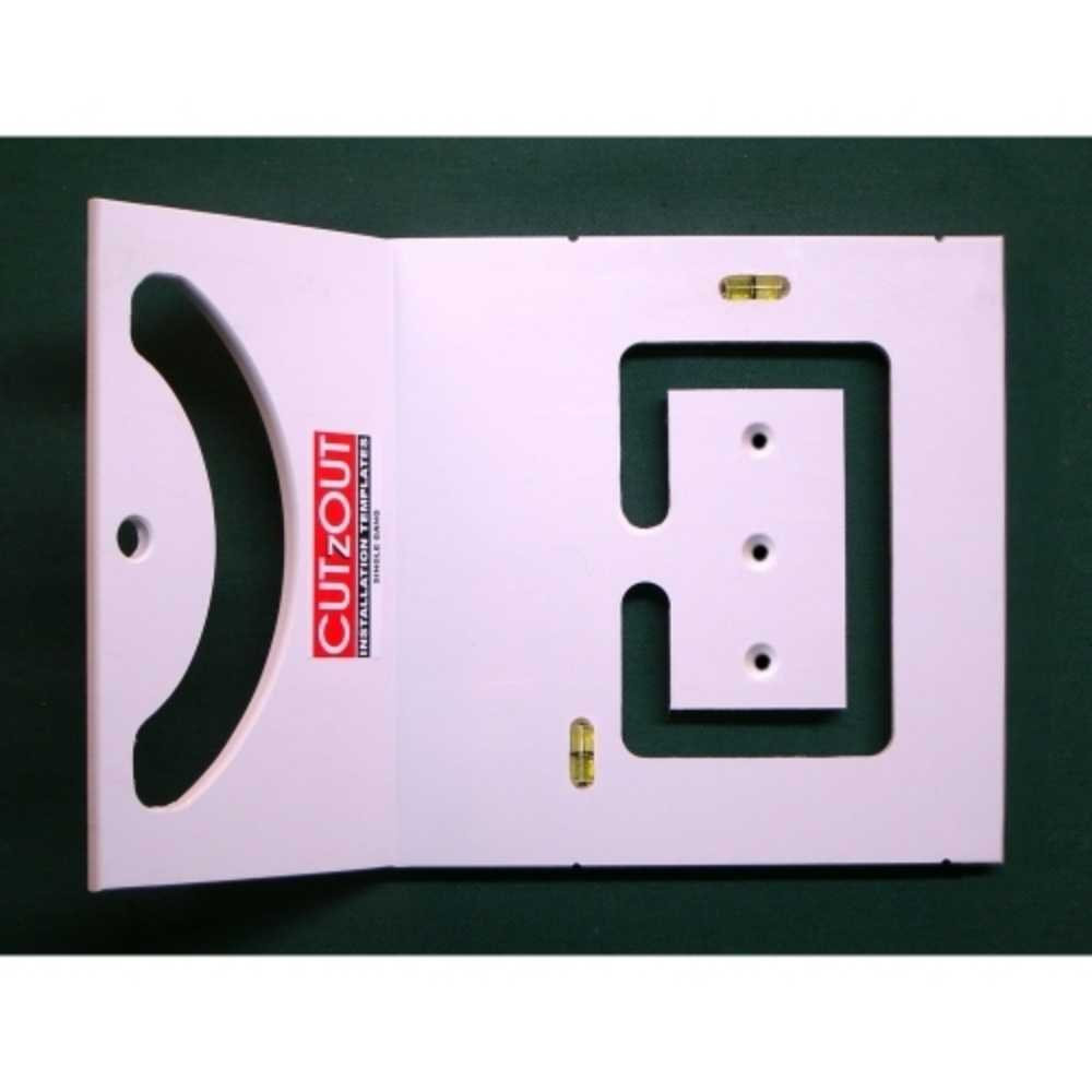 CUTzOUT Single and Double Gang New & Old Work Electrical Box and Low Voltage Box & Bracket Drywall Hole Cutter Templates with Attachment for Spiral Saws, Cut Out, and Rotary Tools by CUTzOUT Installation Templates (Image #3)