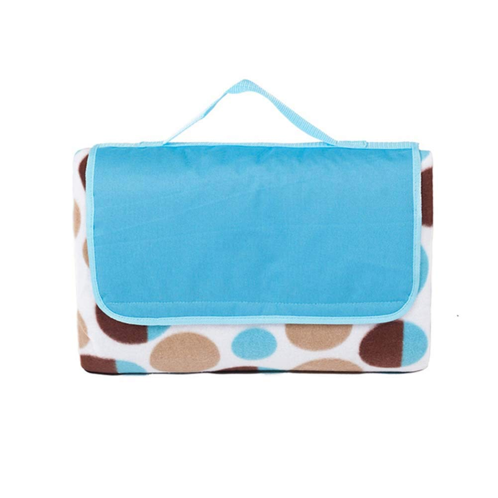 DADAO Outdoor Picnic Blanket Waterproof Machine Washable,Cotton Picnic Blanket-Foldable Tote Great for Picnic, Beach and Camping,Blue,190x200cm