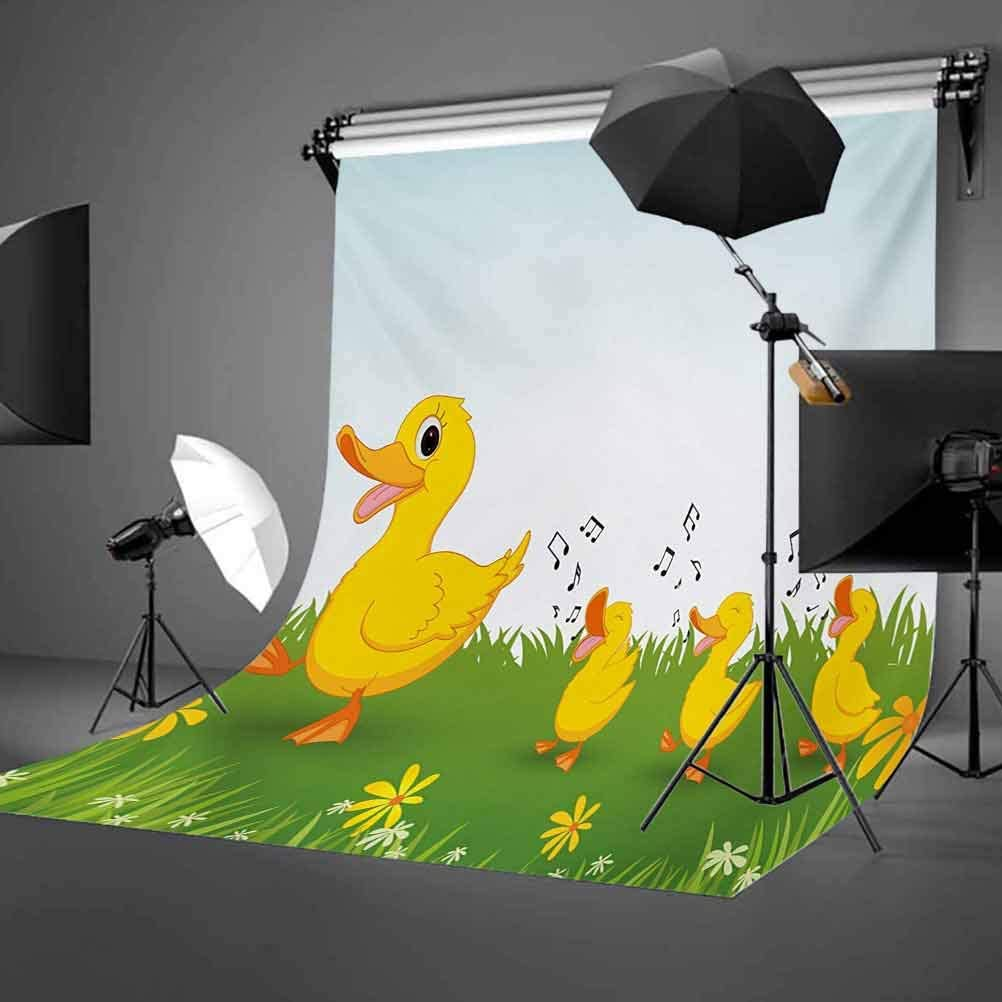Nursery 8x10 FT Photo Backdrops,Cute Animals and Flowers Nature Inspired Colorful Cheering Elements Sweet Jungle Background for Baby Birthday Party Wedding Vinyl Studio Props Photography Multicolor